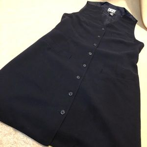 Vintage DKNY Very Dark Navy Front Button Jumper